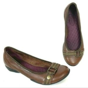 Privo by Clarks Brown Leather Ballet Flats 6.5 M